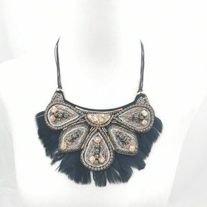 Stella & Dot Constantine Feather Necklace